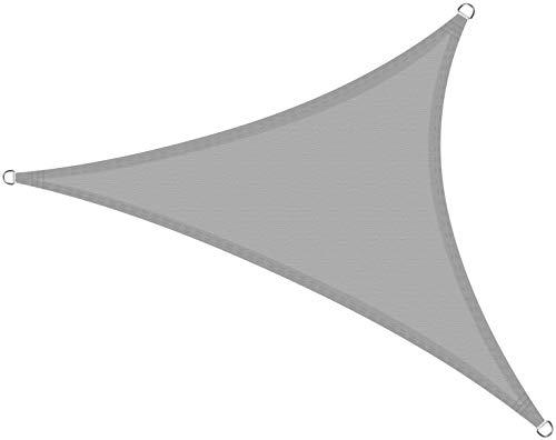 Cool Area Toldo Vela de Sombra Triángulo Rectángulo 4 x 4 x 5.65 Metros, Impermeable Protección UV para Patio Exteriores Jardín, Color Gris Claro