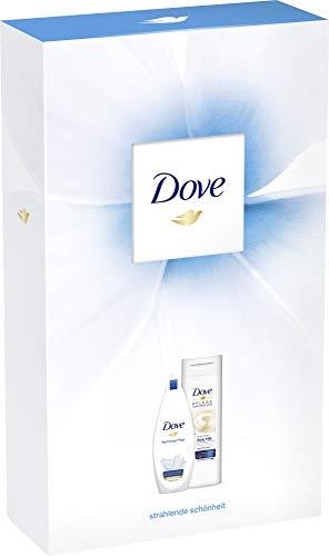Dove Geschenkset, ideal zum Verschenken Reichhaltige Pflege (Cremedusche 250 ml + Body Milk 400ml) 1er Pack