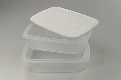 TUPPERWARE Cool`N Fresh 1,5L (2) Behälter+Klimadeckel weiß Coolsmart Stapelprofi