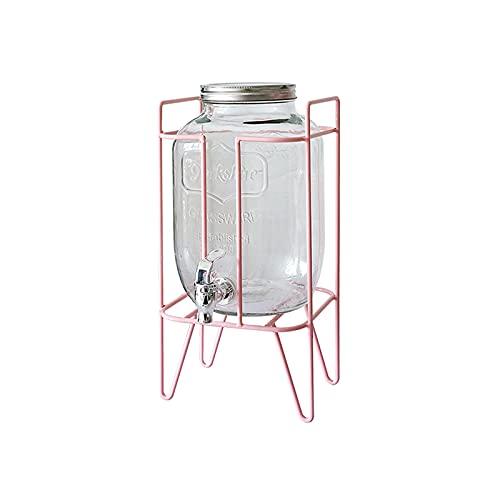 Jarra de Agua Fría Caliente Jarra de agua fría con vidrio de 135 oz con llaves de bebidas de gran capacidad de grifo y base para reuniones familiares, fiestas de cumpleaños, autoservicio del hotel Tet