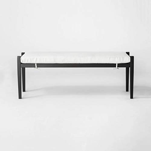 Fairmont Metal Patio Dining Bench - Linen - Threshold™