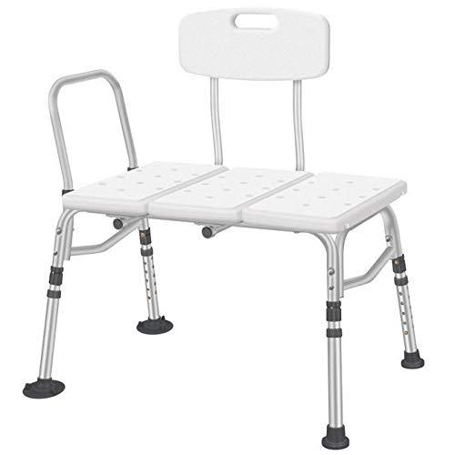 Shower Chair Silla de baño de Ducha Ajustable de bañera, Respaldo Reversible y pies Antideslizantes, Ideal para Ancianos, discapacitados, Personas Mayores y bariátricos ✅