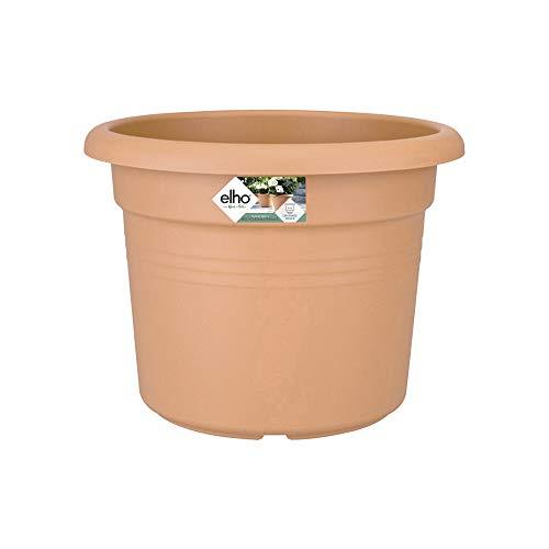 Elho Green Basics Cilinder 45 - Pot De Fleurs - Terre Cuite Doux - Extérieur - Ø 43.8 x H 33.3 cm