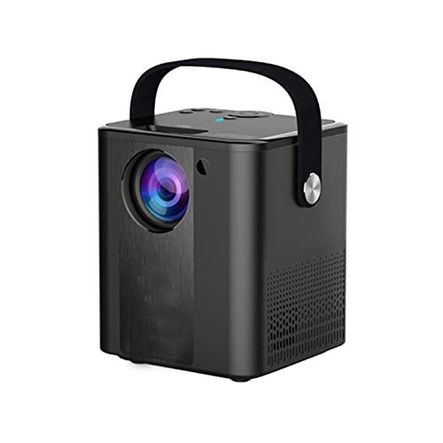 KIUY Proyector Vertical, proyector de Video portátil del teléfono Inteligente, proyector de Teatro al Aire Libre doméstico, Compatible con TV Stick HDMI USB TV Caja portátil Inicio Negro