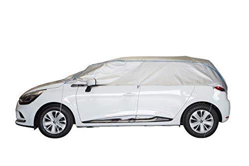 Kley & Partner Halbgarage Autoabdeckung UV-beständig atmungsaktiv wasserfest kompatibel mit OPEL Mokka X in Silber