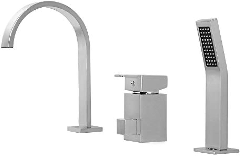 Ledu Badewannen-Wasserhahn, Chrom-Bad-Wasserfall-Badewanne Wasserhahn, Wand-DIY-Dusche Set