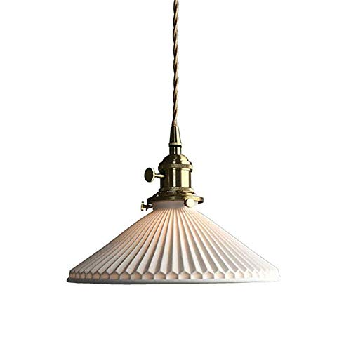 COCNI Araña Retro Lámpara Colgante de cerámica nórdica E27 Pantalla de lámpara Hecha a Mano Lámpara Colgante Dormitorio Comedor Luz de Noche Lámpara Colgante de Techo Altura Ajustable