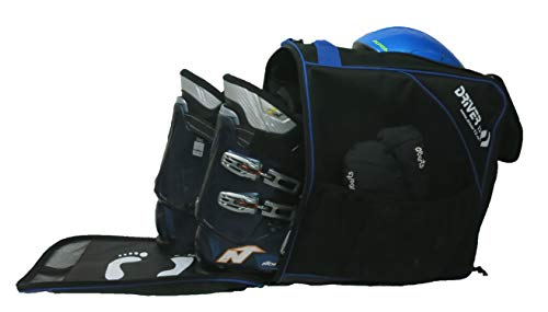 Driver13 Bolsa de Botas de esquí Combi con Compartimento para Casco Negro-Azul