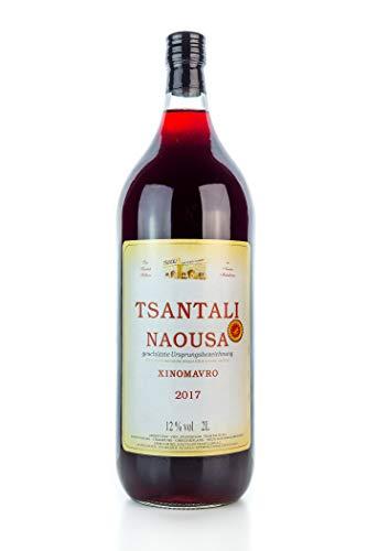 Tsantali Naousa Rotwein Naoussa trocken 2 Liter Flasche - griechischer roter Wein fruchtig Xinomavro sortenrein