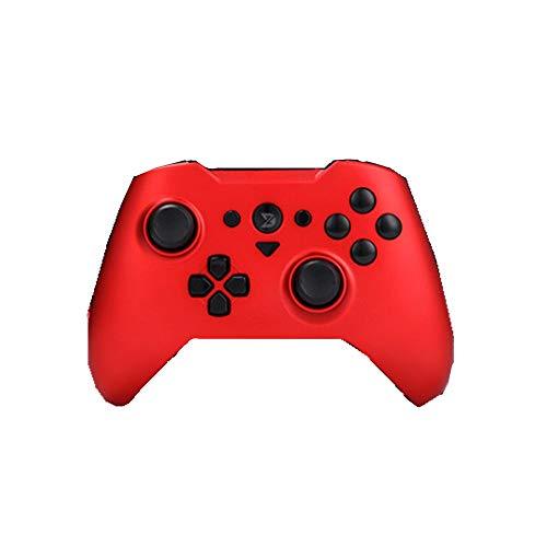 Zhengowen Gamepad Gamepad contrôleur de Jeu sans Fil Bluetooth Gamepad Peut être utilisé for Ordinateur Mobile Wireless Gamepad (Couleur : Red, Size : 15.5x10.7x5.6cm)