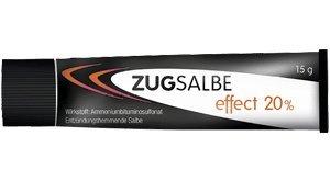 Zugsalbe effect 20% Spar-Set 3x15g. Für oberflächliche, eitrige Hautentzündungen wie Pickel, Rasierpickel, Nagelbett-, Schweißdrüsen- und Haarbalgentzündungen