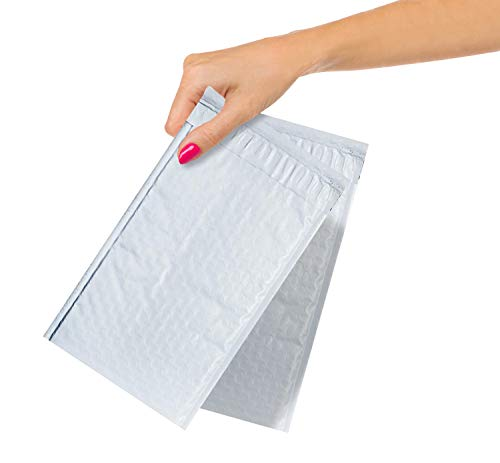 ABC Pack of 25 White Poly Bubble Mailers 5 x 9. Peel and Seal Bubble Padded Envelopes. Padded Mailer Envelopes 5 x 9, Shipping Bags for Mailing, Packing, Packaging in Bulk. Wholesale Price.