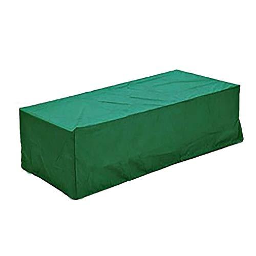 logei Funda para Muebles de Jardín Protectora para Mesas de Jardín Funda Muebles Terraza Rectangular Juego de Muebles, Verde Oscuro, 210x140x80cm