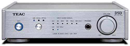 Teac UD-301-X - Convertitore digitale analogico compatto con ingresso audio USB, colore: Argento