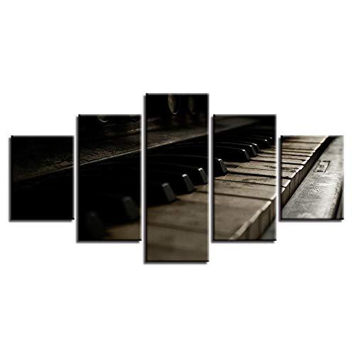 Home Wulian Malerei 5 Home Clear Bar Malerei Instrument Klavier Dekoration Malerei Ölgemälde Wand 8 Malerei Kern + Rahmen 20x35cmx2 20x45cmx2 20x55cmx1