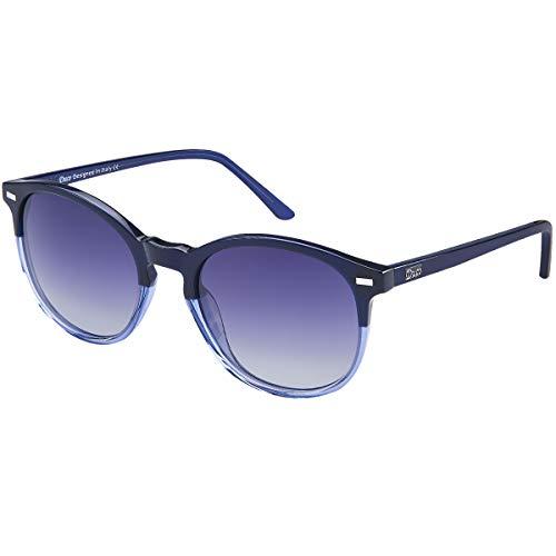 DUCO Retro Polarisierte Damen Sonnenbrille 100% UV400 Schutz Outdoor Brille für Fahren Golf Angeln, Acetat Rahmen 1230 (Blau)