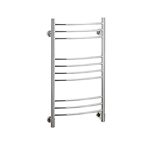 Buy CGGDP Electric Towel Warmer with Shelf, 7-Bar Wall-Mounted Stainless Steel Electric Hot Towel Wa...