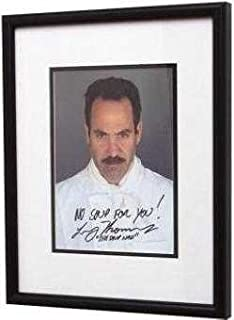 "Larry Thomas autographed 8x10 ""The Soup Nazi"" (FRAMED) Seinfeld"