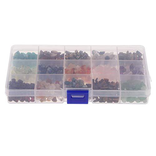 15 estilos de piedras preciosas naturales caídas chip piedra irregular en forma de cuentas sueltas perforadas para pulsera collar pendientes joyería artesanía diseños de alta calidad