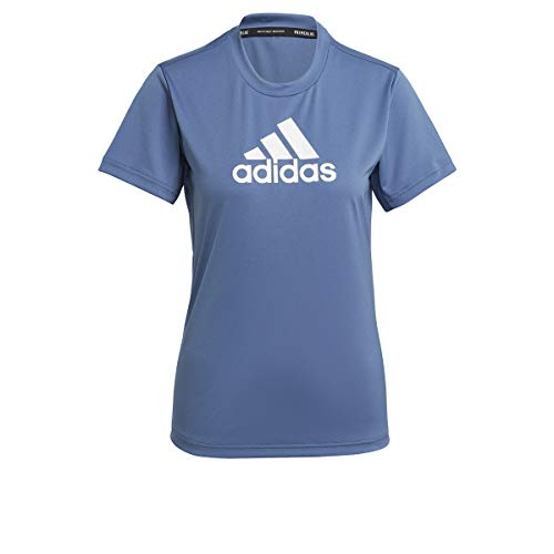 adidas GL3825 W BL T T-Shirt Donna Crew Blue/White S