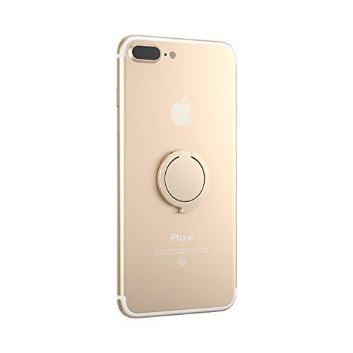 Kronya® | Portaobjetos Giratorio 360 ° para Smartphone | Sostenedor Aptitud Dedo Coche Celular Anillo Soporte teléfono móvil Apple iPhone iPad 7 8 10 X Samsung Galaxy S8 3 (Oro)