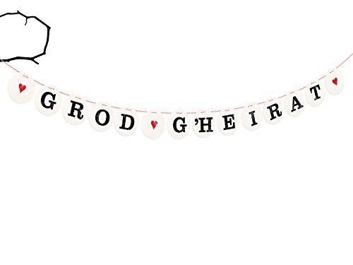 renna deluxe GROD G\'HEIRAT Girlande für die Hochzeit Hochzeitsgirlande für Hochzeit-Shooting Dekoration Hochzeitsdeko Geschenketisch
