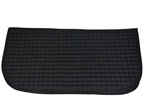 Sous-tapis de selle western - lavable en machine - coton - noir