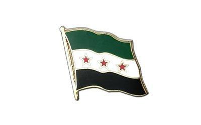 Syrien 1932-1958 Flaggen Pin, syrische Fahne 2x2cm, MaxFlags®