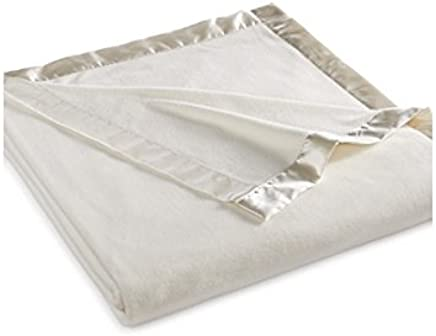 Martha Stewart Easy Care Soft Fleece Blanket (King, Ivory White)