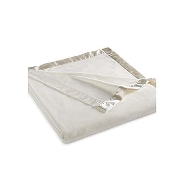 Martha Stewart Easy Care Soft Fleece Blanket (King, Ivory White)