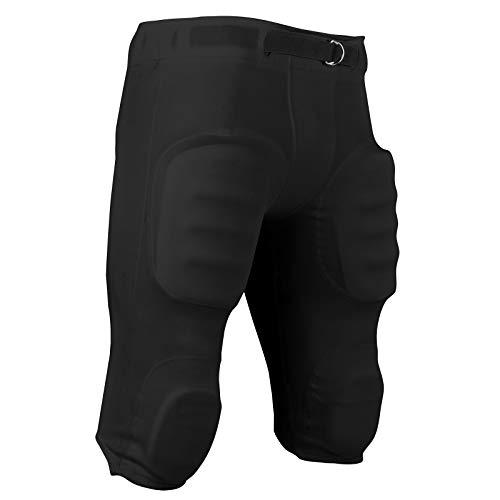 CHAMPRO mens Touchback Football Pant, Black, Large
