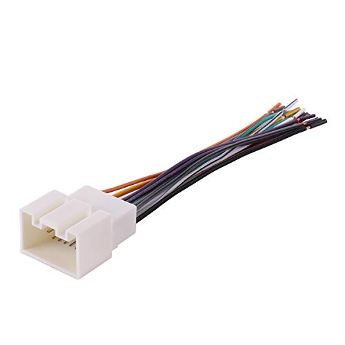 BASIKER Fit for 1998-2009 Ford Vehicles Wiring Harness to Connect Aftermarket Stereo Radio Receiver