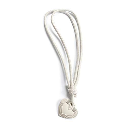 Henan Retro-Vorhang-Seil, handgefertigt, ländlicher Stil, einzigartig, süßes Herz beige
