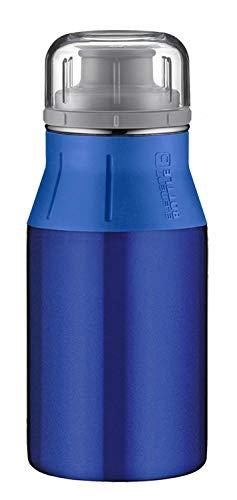 alfi Edelstahl Trinkflasche 400ml, elementBottle Real Pure blau, absolut dicht, spülmaschinenfest, BPA-Frei, 5357.132.040 Edelstahlflasche für Kinder, Schule, Sport, Stadtbummel, Freizeit