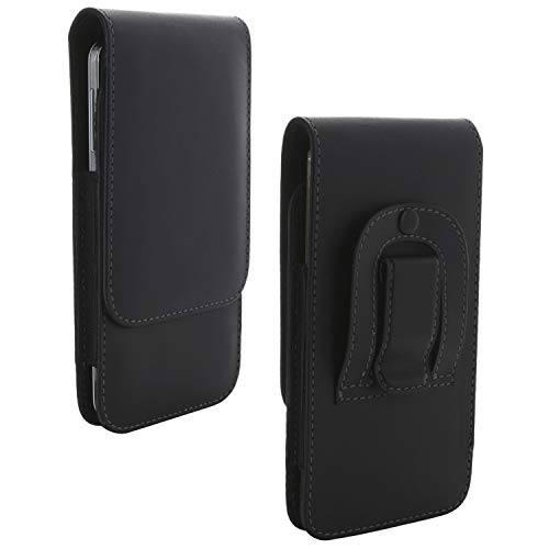 XiRRiX Handy Gürteltasche mit Gürtelclip 4XL 3.2 / Smartphone Tasche passend für Huawei Mate 20 Lite / P20 Pro / P40 Lite / Y6 2019 / Nokia 7.2 / Samsung Galaxy A50 A51 M21 M31 - Handytasche schwarz