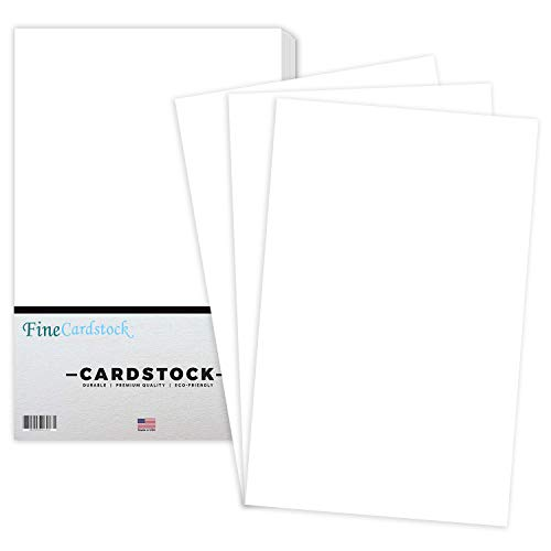 Premium Color Card Stock Paper | 50 Per Pack | Superior Thick 65-lb Cardstock, Perfect for School Supplies, Holiday Crafting, Arts and Crafts | Acid & Lignin Free | White | 11 x 17
