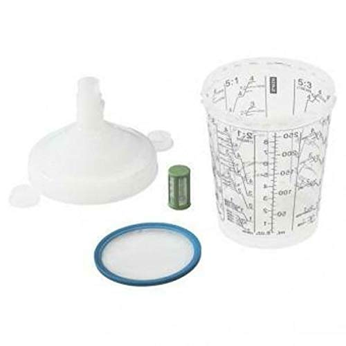 SATA RPS Einwegmischbecher 0,3 l minijet, 60 Stk/VE 125 µm Flachsieb