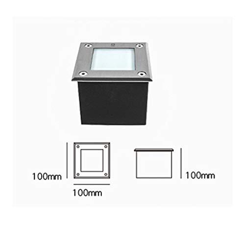 Lightshao Ondergrondse lamp, gegraveerd licht, waterdicht en stofdicht, roestvrij staal, ingesloten led, gazonverlichting, (2 specificaties)