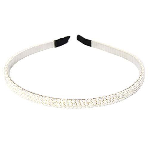 JUSTFOX - Designer haarband met parels haaraccessoires communie wit
