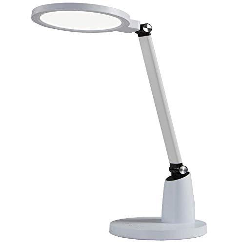 Lámpara de escritorio LED 10 Luz de lectura de cuello de cisne flexible de brillo regulable Control táctil para el cuidado de los ojos, para el hogar, la oficina, el dormitorio, la lectura, el trabajo