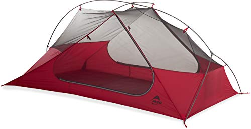 Msr FreeLite Ultralight Breathable Backpacking Tent Ultraleichtes, atmungsaktives Rucksack-Zelt, rot/weiß, Für 2 Personen