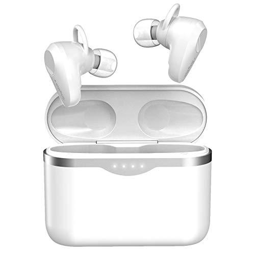 Kabellose Noise Cancelling Kopfhörer Bluetooth 5.1,Srhythm Soulmate S5 Stereo In Ear Ohrhörer mit 4 Mikrofonen Geräuschisolierung,Touch-Control,50 Std. Akkulaufzei,Sprachassistent für Sport, Reisen