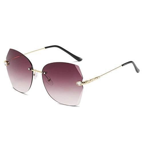 chuanglanja Gafas De Sol Mujer Modernas Gafas De Sol De Gran Tamaño Sin Montura Para Mujer Gafas Vintage Para Mujer Anteojos Para Mujer/Hombre Mirror-Color-M