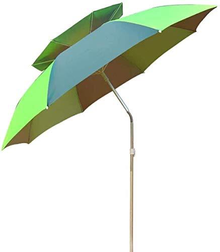 MISS KANG Paraguas al aire libre 2 M de doble capa de aleación de aluminio paraguas pesca 360 ° rotación, con cubierta protectora, Po. Qingchunw