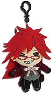Key Chain Black Butler New Grell SD PU Anime Licensed ge37309