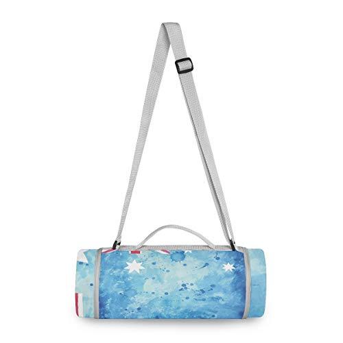 Arte Blu UK Acquerello Coperta Tappetino da Picnic Portatile per Concerti PIC-Nic Round Creativo per Spiaggia Campeggio BBQ Ragazzi e Ragazze(148cm x 148cm)