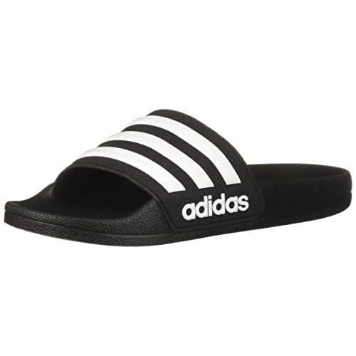 Adidas Adilette - Ciabatte da doccia per bambini, Nero (Black/White/Core Black), 33 EU