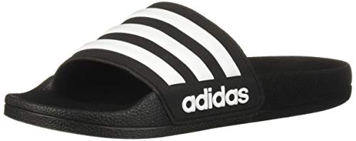 adidas unisex-child Adilette Shower Sandal, Black/White/Core Black, 5 M US Big Kid