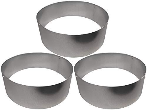 Rasenkanten Baumring Kreis aus Metall durchm. 75 cm x 25 cm - 3er Set