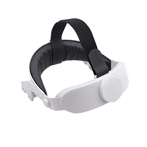 Virtual Reality Glasses Headband Adjustable Head Strap for Oculus Quest2 VR Glasses Accessories, Sweat Absorbent Headband Reduce Head Pressure Protect Head Gaming Head Pad